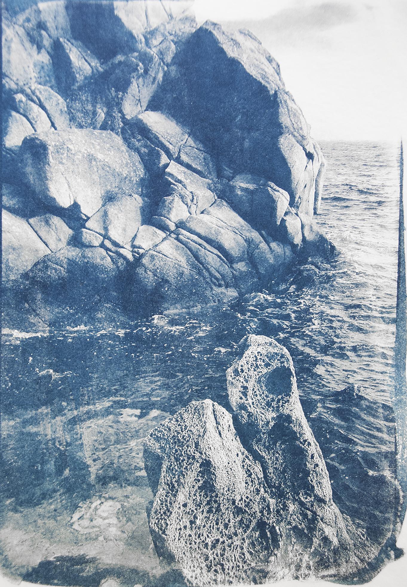 Cala de Diana, Costa Brava. Washi 20g sur papier aquarelle.